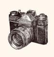 film retro camera vector image vector image