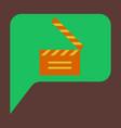 flat icon film slapstick vector image vector image