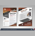 flyer design layout vector image vector image