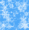 Frozen window - winter background vector image vector image
