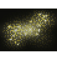 Gold shiny mosaic background vector image vector image