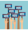 government elections design vector image vector image