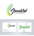 green bird logo design vector image vector image