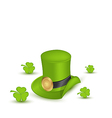 Green hat with buckle with clovers in saint vector image vector image