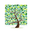 green leaf square tree concept for nature help vector image
