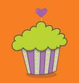 halloween cupcakes hearttop purple 03 vector image vector image