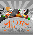 halloween sticker with gray background vector image vector image