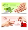Hand Care Cosmetics 2 Realistic Banners vector image vector image