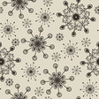 hand draw snow flakes seamles patern vector image