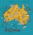 hand drawn sketch map of australia vector image