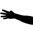 hand shadows vector image vector image
