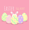 happy easter greeting background with bunny behind vector image vector image