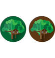 icons with a tree house vector image vector image