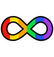 infinity sign with rainbow colors vector image vector image