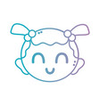line baby girl head with hairstyle design vector image vector image