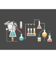 Medical laboratory infographics vector image vector image