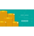 money savings concept vector image vector image