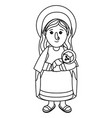 nativity mary cartoon vector image vector image