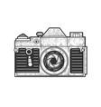 old photo camera sketch vector image vector image