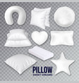 pillows for sleeping in different form set vector image