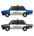 Police cars in two different colors vector image vector image