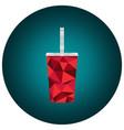 Polygonal cola cup vector image