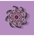 purple pattern circle ornament vector image vector image
