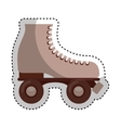 retro skate isolated icon vector image vector image