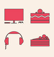 set cake video game console cake and vector image vector image