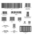 set different barcodes isolated on white vector image