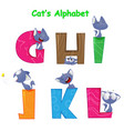 set of english alphabet with fun cartoon vector image