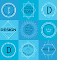 Set of Retro Vintage Insignias and Logotypes vector image