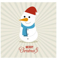 snow man with pattern background vector image vector image