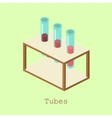 Tubes for research Isometric color vector image