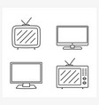 tv line icons vector image
