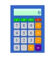 Universal blue calculator vector image vector image