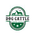 vintage cattle dog logo design template vector image vector image