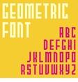 simple font design vector image