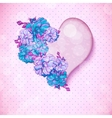 Valentines day floral background with hearts vector image