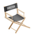 director empty chair isolated on white background vector image