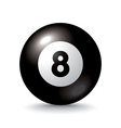 eight ball icon vector image