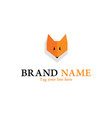 fox head logo vector image