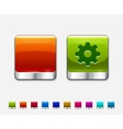 Glossy color templates for square buttons vector image