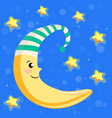moon in a nightcap vector image