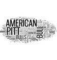 american pit bull terrier is it the right dog vector image