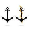 anchor set on white vector image vector image