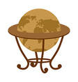 Antique vintage globe on stand Vintage school vector image vector image