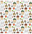 back to school sketched seamless pattern with vector image vector image