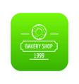 bakery fresh icon green vector image vector image