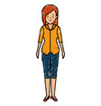 beautiful businesswoman avatar character vector image